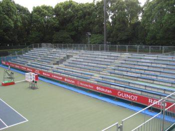 楽天ジャパンオープンテニス 屋外仮設スタンド(ベンチ)